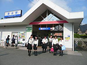 西鉄倉永駅出口右に医院